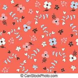 seamless, blomstret mønster