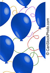 Seamless Blue Balloon Background