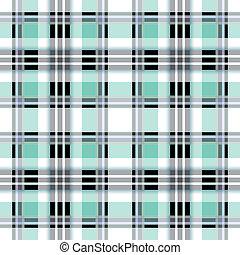 Seamless blue checkered pattern
