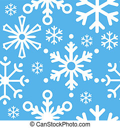 Seamless blue christmas pattern with snowflakes
