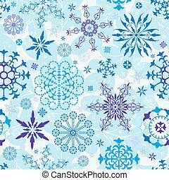 Seamless blue christmas wallpaper