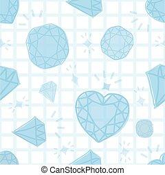 seamless blue diamond pattern