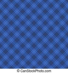 Seamless Blue Fabric Tartan Background. Vector