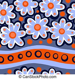 Seamless Blue Flower Pattern