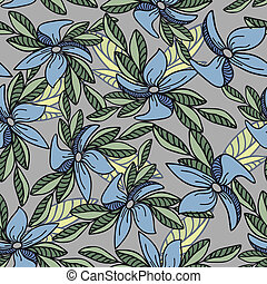 Seamless blue flowers