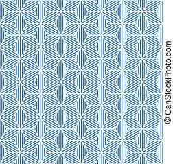 Seamless blue geometric texture. Striped diamonds pattern....