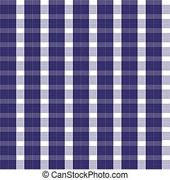 seamless blue gingham vector
