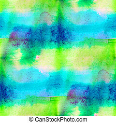 seamless blue green watercolor background stripes handmade