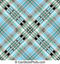Seamless blue-grey-brown pattern