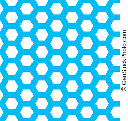 seamless blue hexagon vector