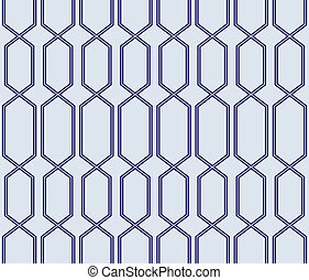 seamless blue lattice pattern - crisp dark blue lined...