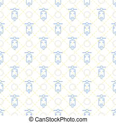 seamless blue pastel motorcycle pattern background