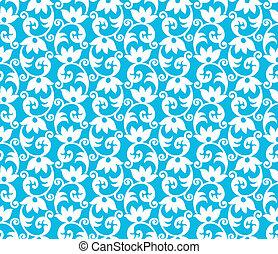 Seamless blue pattern