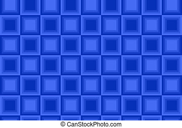 Seamless Blue Square Pattern