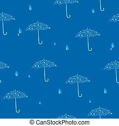 seamless blue texture with umbrella