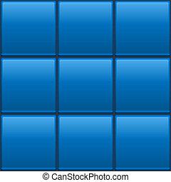 Seamless blue tiled wall vector template.