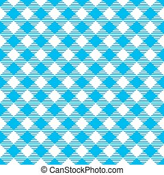 Fabric Texture - Seamless Blue White Traditional Gingham...