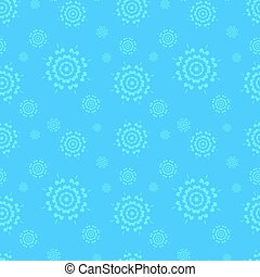 Seamless blue winter background with snowflakes.