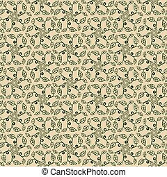 seamless, blumen-, pattern.