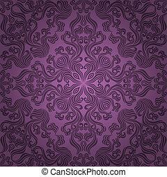seamless, blumen-, pattern., vektor, krank