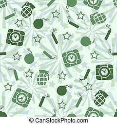 seamless bomb pattern background