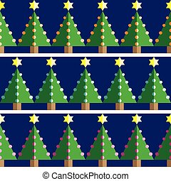 seamless, bomen, model, kerstmis