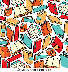 Seamless book pattern / Background wallpaper