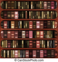 Seamless Book Shelf Texture as a Background