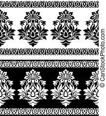 Seamless border for textile fabrics