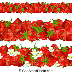 seamless border of strawberry
