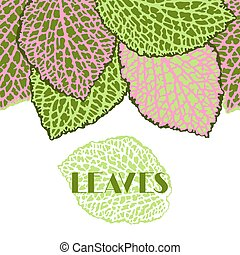 Seamless border with decorative leaves. Natural detailed...