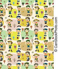 seamless boy/girl scout pattern