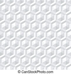seamless, branca, 3d, hexágonos, pattern.