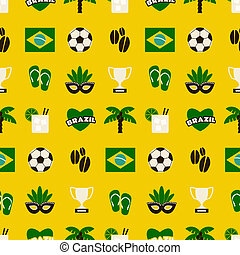 Seamless Brazil Background
