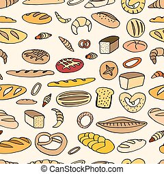 Seamless bread background