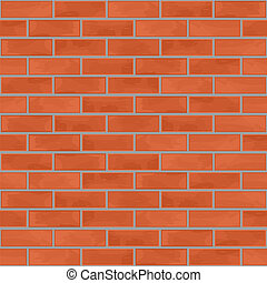 Seamless brick wall background, vector eps10 illustration