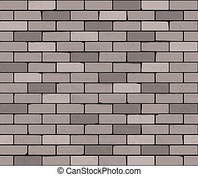 Seamless brick wall. Vector background