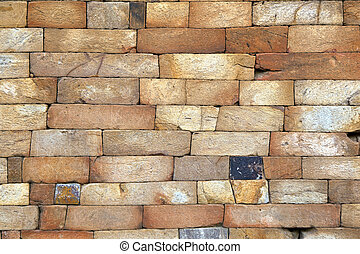 seamless bricks of an historic building QTAB Minar in Delhi
