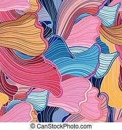 Seamless bright abstract wavy pattern