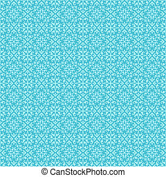 Seamless Bright Aqua Damask - Allover bright damask pattern...