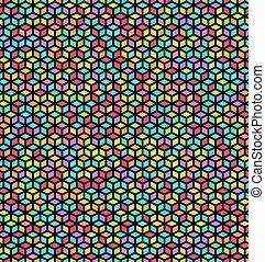 Seamless Bright Cube Pattern