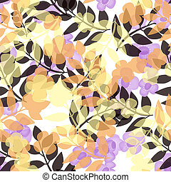 Seamless bright floral pattern on white