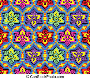Seamless bright indian pattern