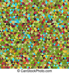 Seamless Bright Pattern of Symmetric Triangles for Covers, Templates, Wrapping Paper.