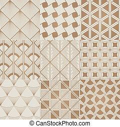 seamless bronze geometric pattern