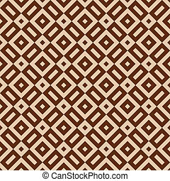 Seamless brown abstract geometric pattern