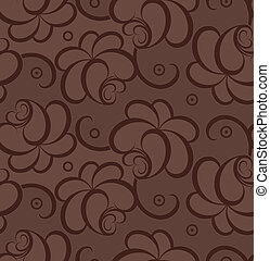 Seamless brown background of roses