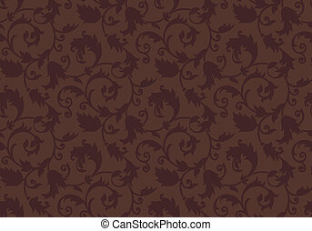 Seamless brown damask background