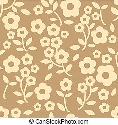 seamless brown floral pattern background