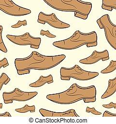 Seamless brown male shoe
